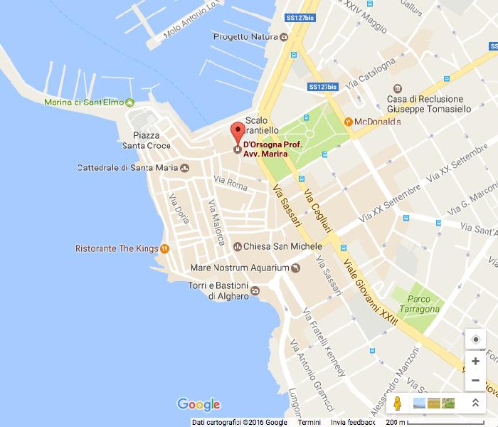 Google Map - Studio Legale D'Orsogna - Studio di Alghero